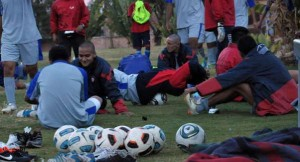 Foto de archivo de algunos jugadores de Wilster, durante un entrenamiento.
