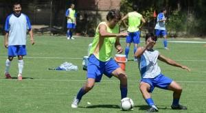 DeFrancesco y Soria discuten en medio del entrenamiento