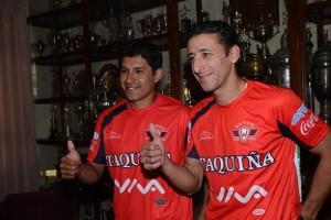 El volante argentino Sebastián Romero y el defensa Osvaldo Medina son las flamantes contrataciones