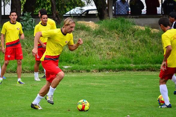 Martín Belforti es la novedad que exhibió ayer el entrenador de Wilstermann