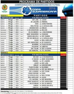 Hecha la programación de Copa Sudamericana