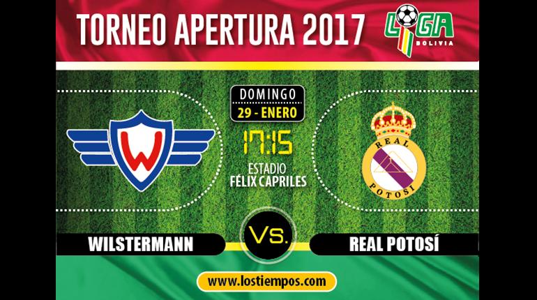 Wilstermann ganó a Real Potosí (1- 0) y suma sus primeros 3 puntos del torneo de Apertura 2017. Omar Morales marcó el gol para el equipo cochabambino en el 66 del encuentro. El primer tiempo terminó con un minuto de adición. Real Potosí presionó a la defensa del club cochabambino. El jugador del aquipo aviador Gilbert Álvarez perdió su oportunidad de marcar en el minuto 32.