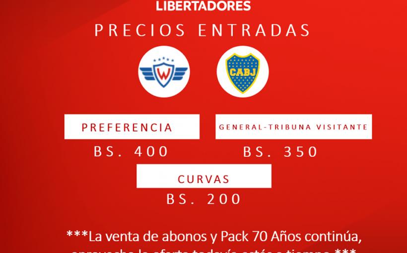 Wilster oficializa los precios de las entradas para el partido con Boca Juniors