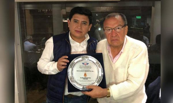 Deportes Tolima recibió condecoración en Bolivia antes de encarar su duelo con Wilstermann