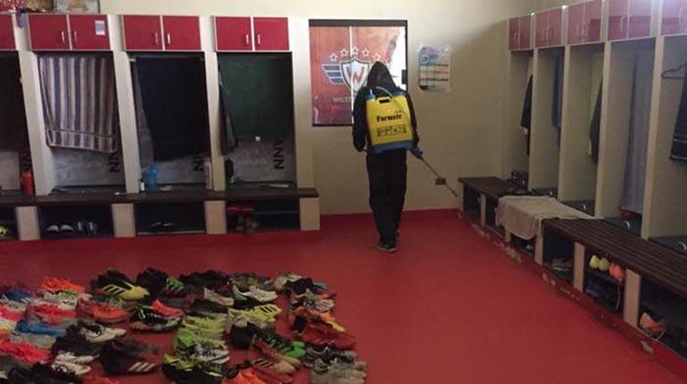 Wilstermann inicia con la desinfección de las instalaciones de su complejo y su sede