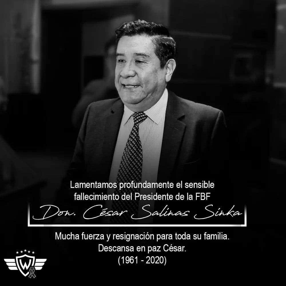 Fallece por coronavirus el presidente de la Federación Boliviana de Fútbol