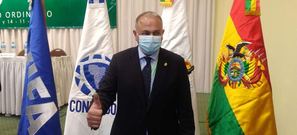 Conmebol se dirige a Costas como presidente de la FBF para invitar a Wilstermann a una reunión de Copa Libertadores