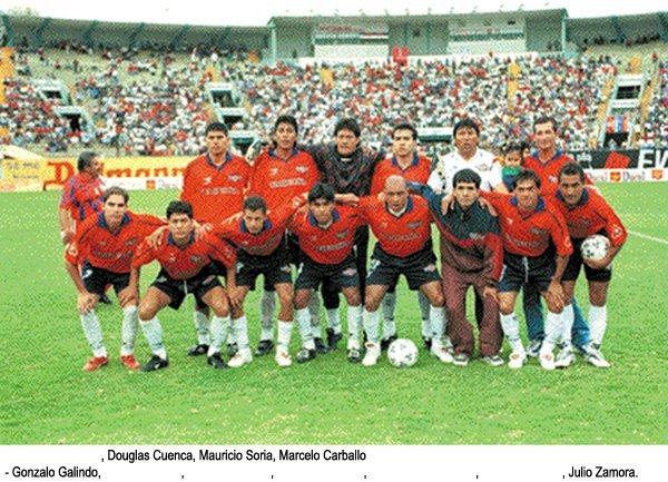 1999 - Loayza, Arispe, Soria, Carvallo, Galindo, Cárdenas, Arévalo, Sergio Joao, Reynoso, Zamora.