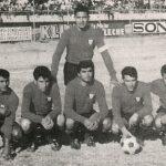 Parado: Osvaldo Villarroel Cuclillas: Tito Montaño, Edgar Postigo, Zenón Crespo, Renán López y César Sánchez