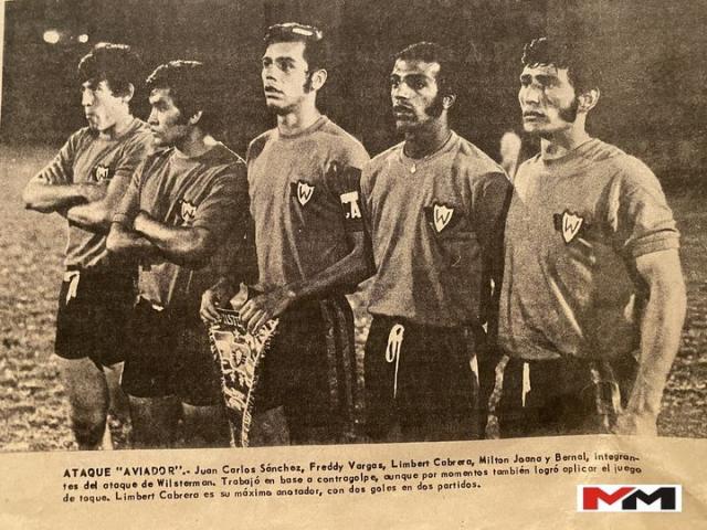 Campeon 72-73 - Juan Carlos Sanchez Dávalos, Freddy Vargas Orozco, Limberg Cabrera Rivero, Milton Teodoro Joana y Aniano Bernal.